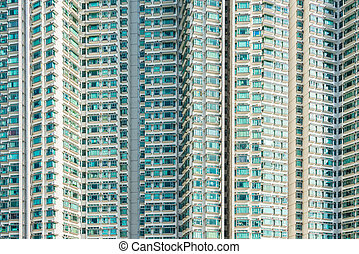 Hign density residential building in Hong Kong