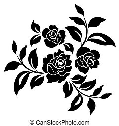 Silhouette of roses