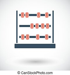 Abacus Single flat icon on white background Vector...