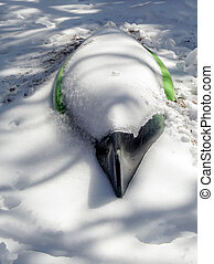 Snow Bird - An interesting look at a kayak that is cover...