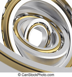Isolated realistic whirling bearing in the bearing with...