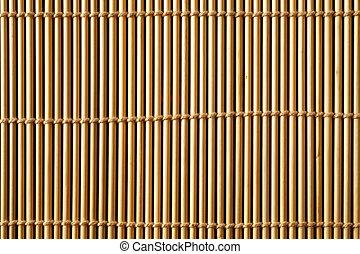 Bamboo mat close up texture
