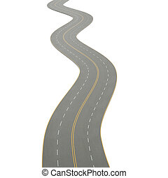 3d illustration of a curving road - 3d illustration of a...