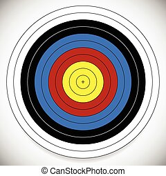 Printable Archery, Arrow Target with Cross at Center...