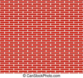Seamless brick wall pattern with longer bricks Seamless...