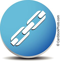 Icon with chain-link symbol Icon with chain-link symbol -...