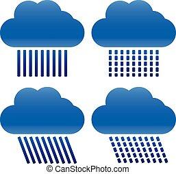 Different Raincloud Symbols      Different Raincloud Symbols