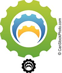 Gears in each other Gears in each other - Eps 10 Vector...