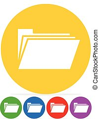 Simple Icon w/ Folder Symbol in several colors