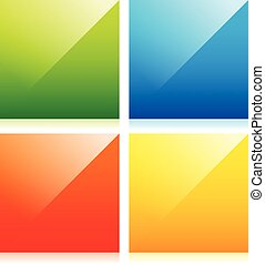 Glossy colorful squares with blank space