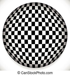 Sphere with Checkered Pattern Sphere with Checkered Pattern...