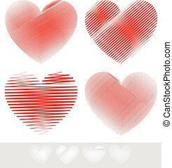 Sketchy, Doodle Heart Set Sketchy, Doodle Heart Set - Eps 10...