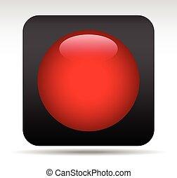 Record / Rec Button Record / Rec Button - Eps 10 Vector...
