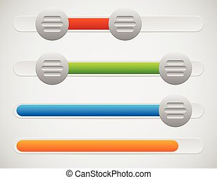 Slider / Adjuster UI Elements With Knobs and Loading,...
