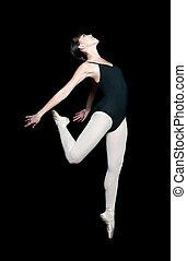 Female Ballerina - A young asian ballerina doing a ballet...