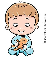 Baby - Vector illustration of Cute baby