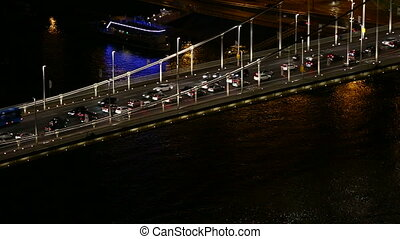 Urban night traffic