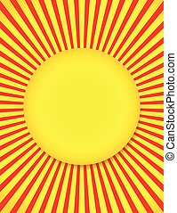 Abstract Sun background with Rays, Beams