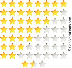 Star Rating Template Vector with group of stars Star Rating...