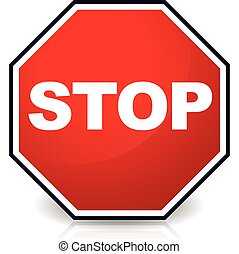 Stop sign Stop sign - Stop sign, Eps 10 Vector Illustration...