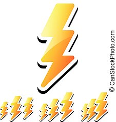 Thunderbolt, Lightening Icons Thunderbolt, Lightening Icons...