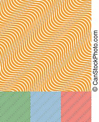 Colorful Background Set with Diagonal Wavy Lines      Colorful Background Set with Diagonal Wavy Lines