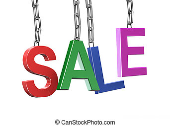 3d hanging sale text