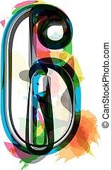 Artistic Font - Number 6 - Artistic Font vector Illustration...