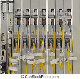 Fiber Optics with SCLC connectors Internet Service Provider...