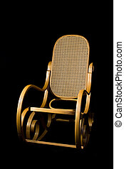 Rocking chair - Wooden rocking chair old classic style