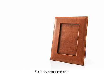 Vintage leather picture frame - Vintage leather picture...