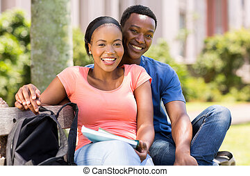 young african college couple