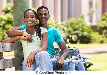 african american university couple