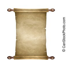 Old blank paper scroll