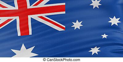 3D Australian flag