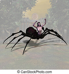 Spider Woman 01 - Fantasy Series - Image contains a Clipping...