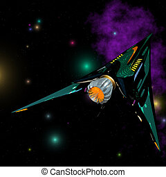 Starship #02 - Outerspace / Alien series Image contains a...