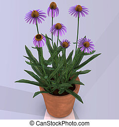 Flower in a pot Image contains a Clipping Path / Cutting...