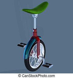 Bike with only one TireImage contains a Clipping Path /...