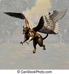 Griffin #03 - Fantasy Series - Image contains a Clipping...