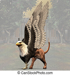 Griffin 01 - Fantasy Series - Image contains a Clipping Path...