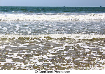 Waves on the shore, Bentota - Waves on the shore of the...