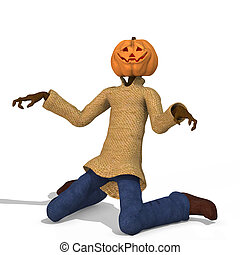 Mister Pumpkin 03 - Funny Punpkin Man, perfect for Halloween...