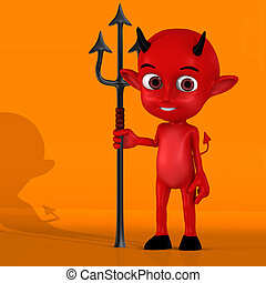 Little Devil 02 - With Clipping Path Cutting Path