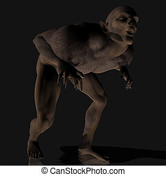 Werewolf 01 - creepy werewolves are coming With Clipping...