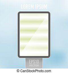 Vector empty vertical light billboard background template -...