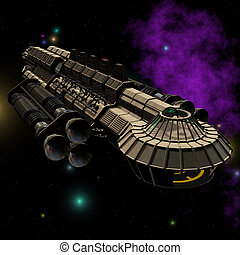 Spaceship 01 - Outerspace Alien series Image contains a...