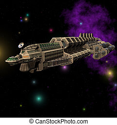 Spaceship 03 - Outerspace Alien series Image contains a...
