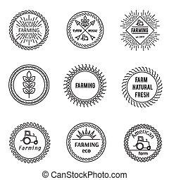 Set of outline emblems