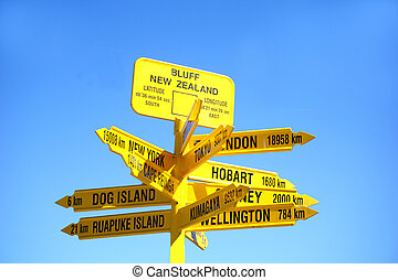Signpost to the world, Bluff - Signpost to the world,...